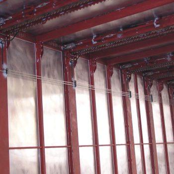 pneumatische Deckenverriegelung für hängende Bauteile